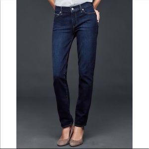Gap Premium Curvy Straight Dark Wash Jeans